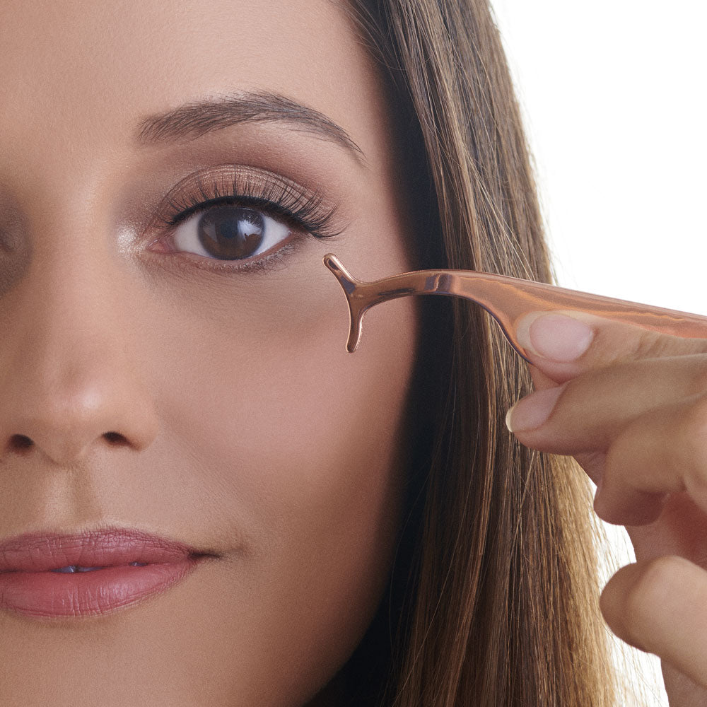 True Glue Lash Applicator Tweezers in Rose Gold