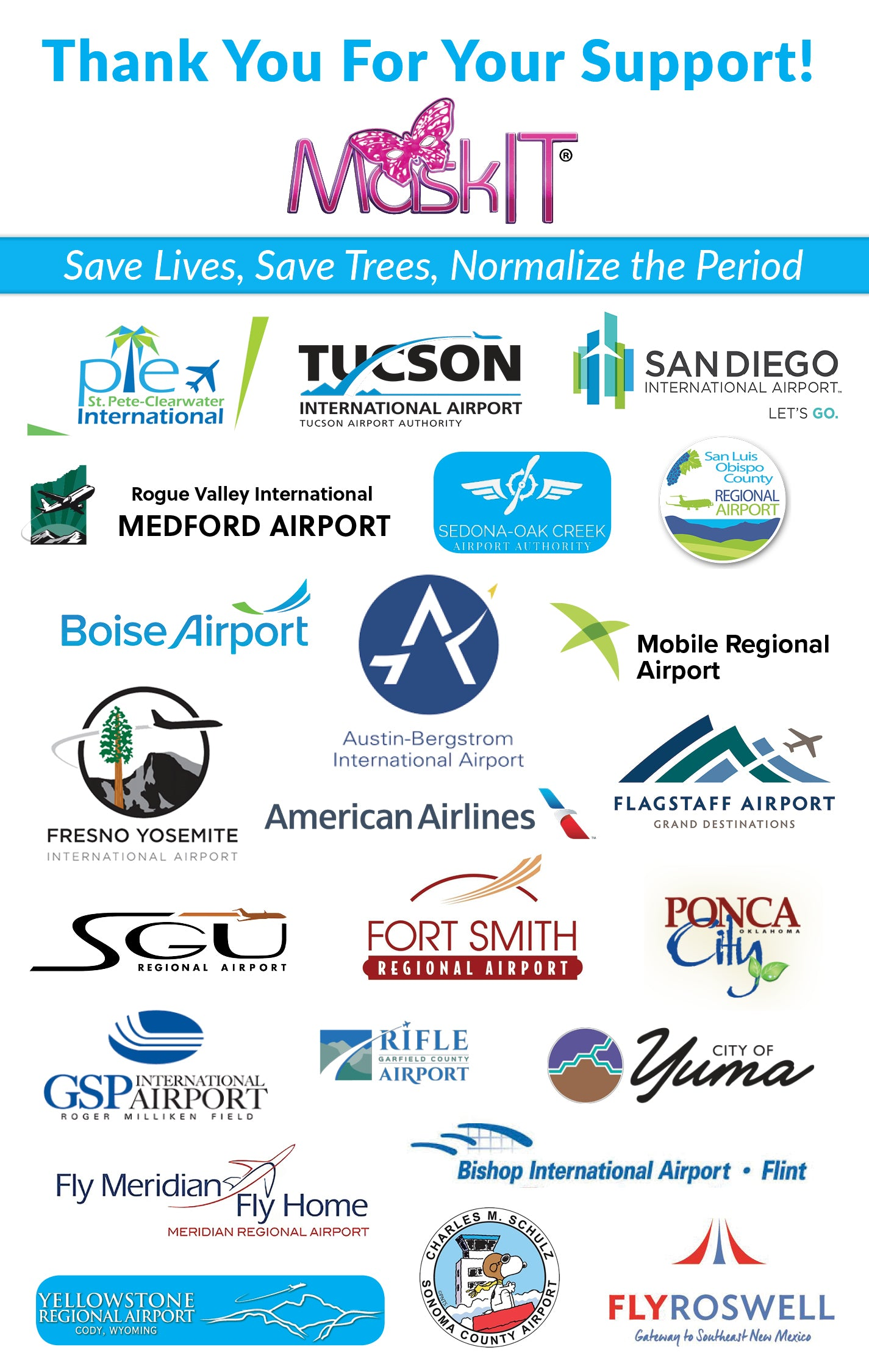 Thank you to all of the Airports who have fully or partially implemented MaksIT!