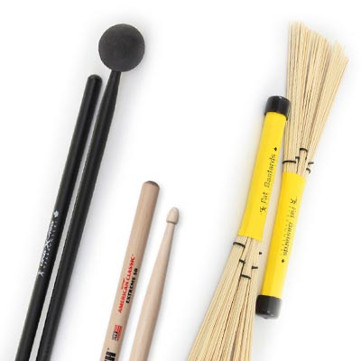 Drumsticks, Mallets & Brushes