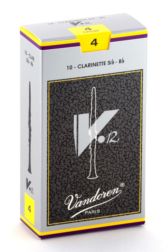 Vandoren V.12 B-Flat Clarinet Reeds, #4 - Box of 10
