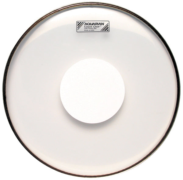 "Aquarian 12"" Classic Clear Drum Head With Power Dot"