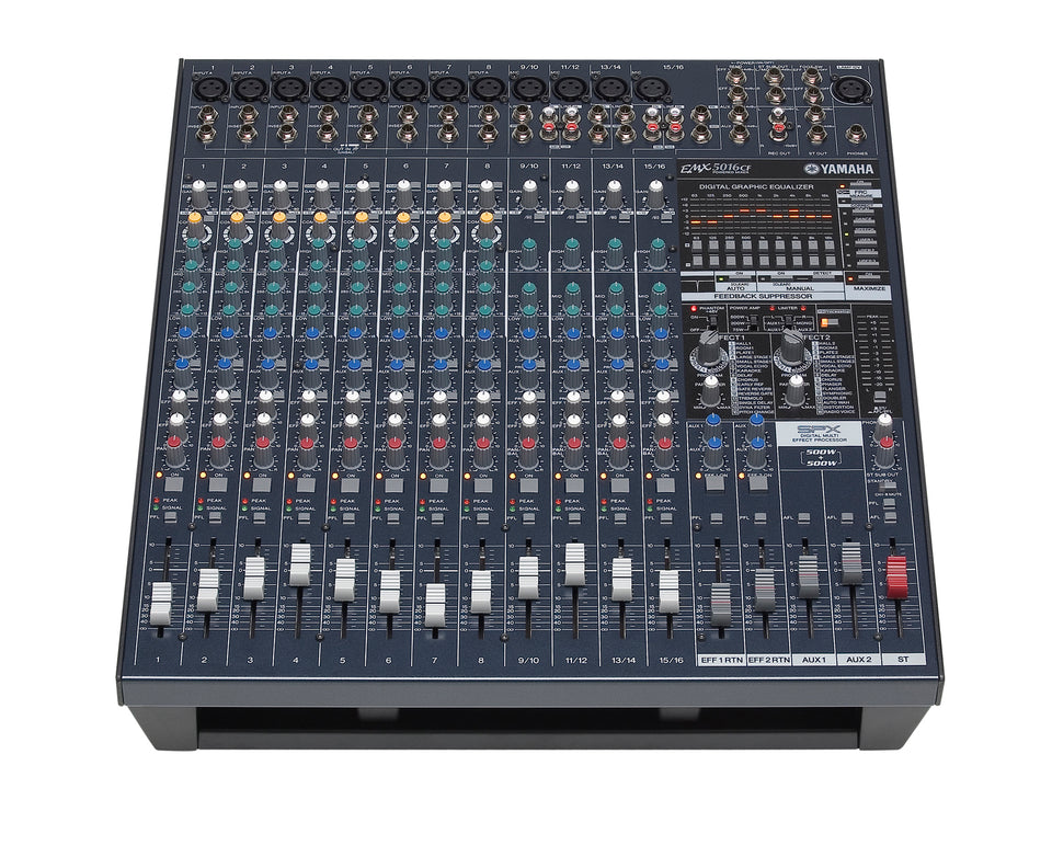 Yamaha EMX5016CF Mixer & Dual 500 Watt Power Amp