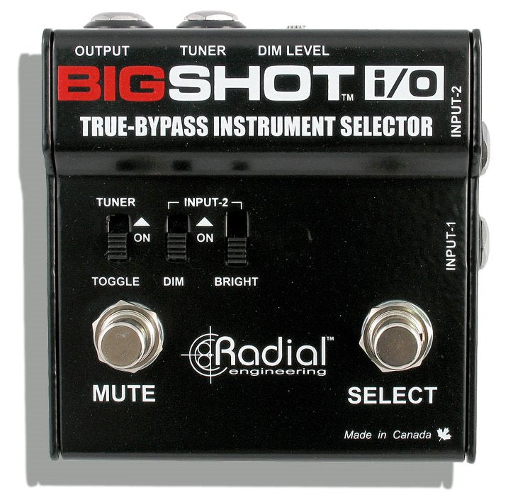 Radial Engineering Bigshot I/O True Bypass Instrument Selector Pedal