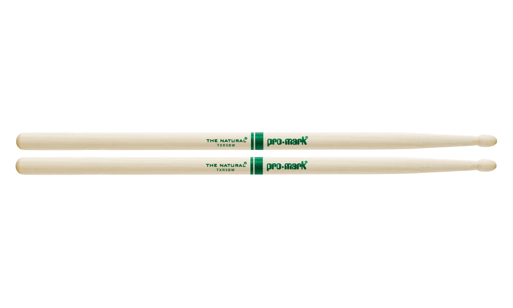 Promark TXR5BW Hickory 5B The Natural Wood Tip drumstick