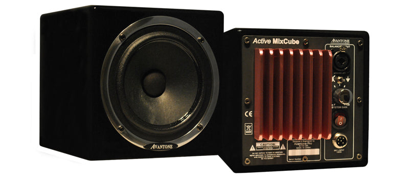 Avantone Pro Active MixCubes Full-Range Mini Reference Monitors - Black (Pair)