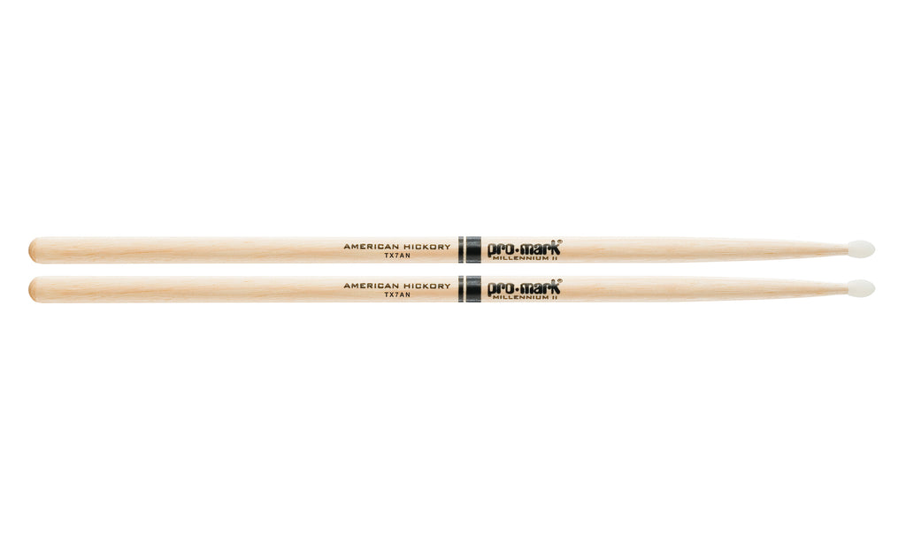 Promark TX7AN Hickory 7A Nylon Tip Drumsticks