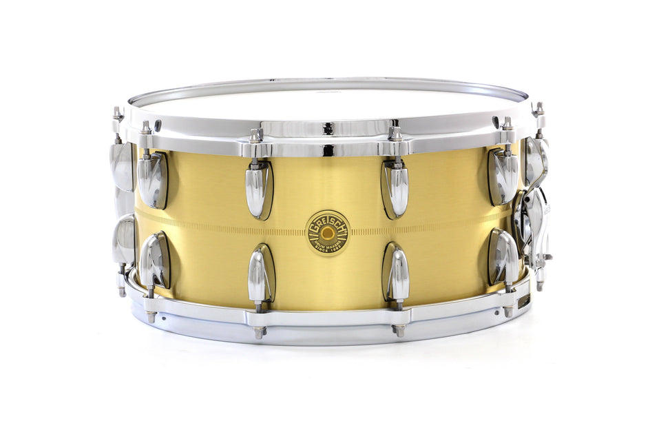 "Gretsch 14"" x 6.5"" USA Bell Brass Snare Drum"