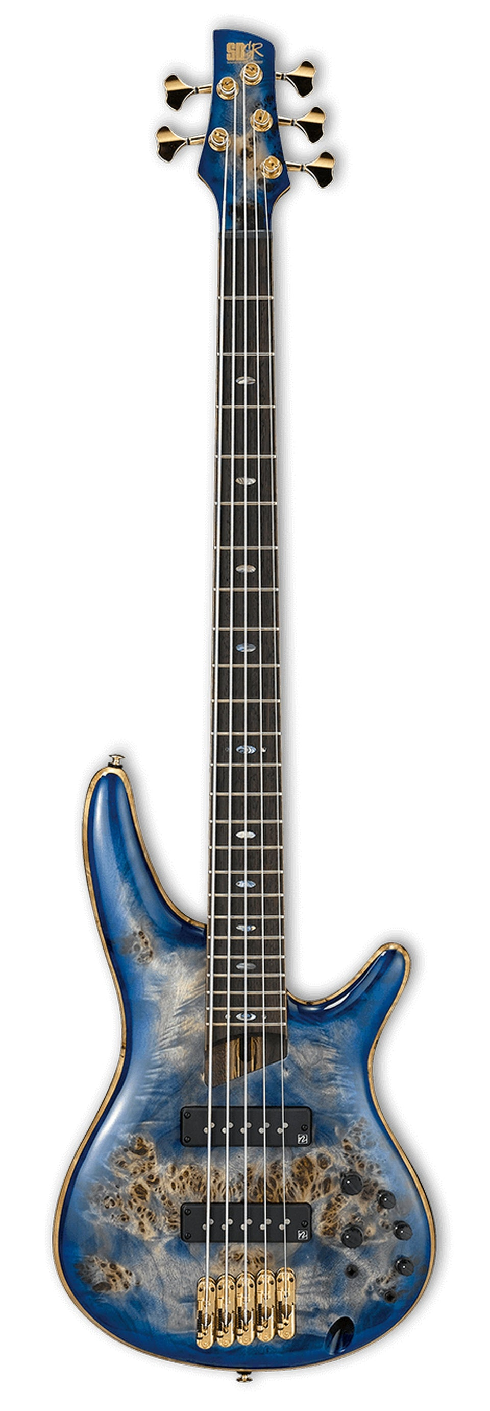 Ibanez SR2605E Premium 5-String Electric Bass - Cerulean Blue Burst