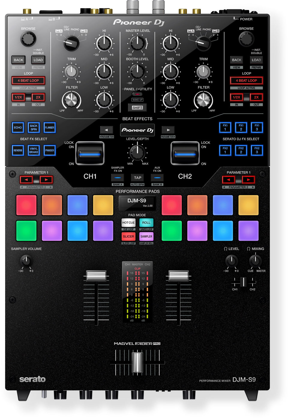 Pioneer DJ DJM-S9 Professional 2-Channel Battle Mixer