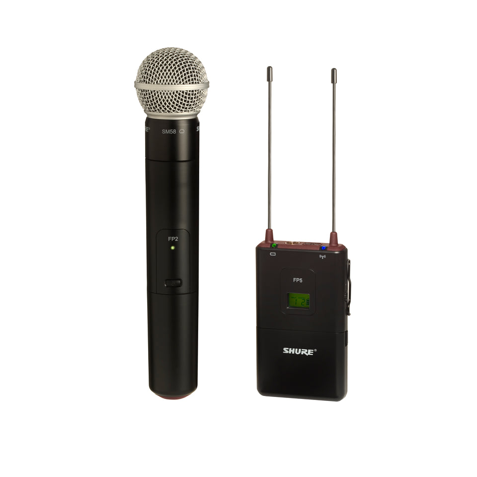 Shure FP25/SM58 Handheld Wireless Camera System with Battery Powered Portable Receiver