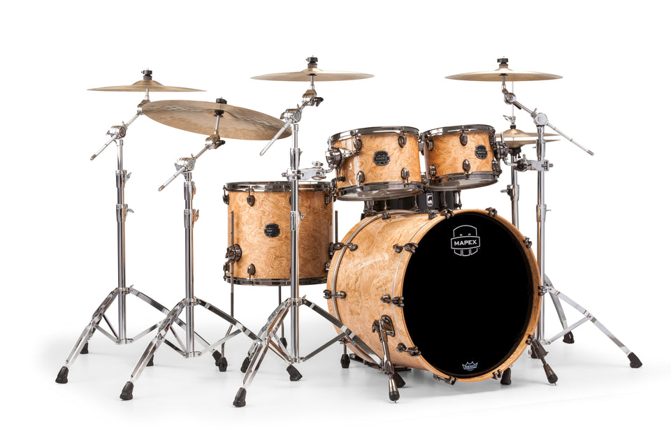 Mapex Saturn V MH Exotic Rock 4 Piece Drum Set Shell Pack - Natural Maple Burl