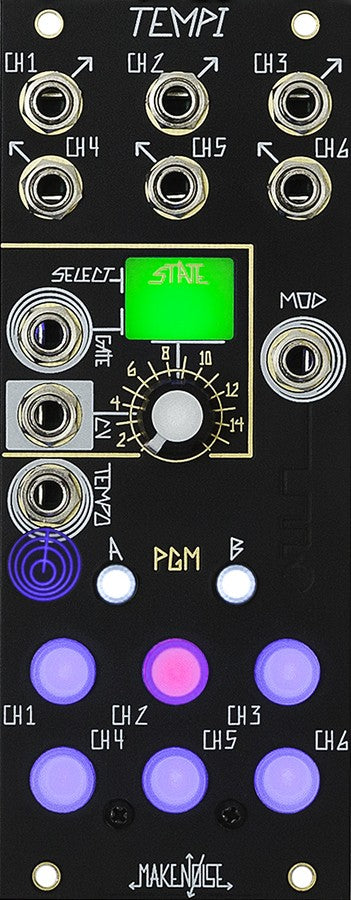 Make Noise TEMPI 6 Channel Polyphonic Clock Module