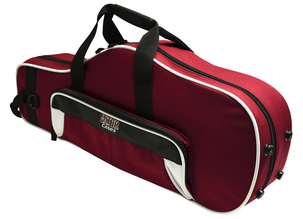 Gator GL-ALTOSAX-WM Spirit Series Lightweight Alto Saxophone Case, White And Maroon