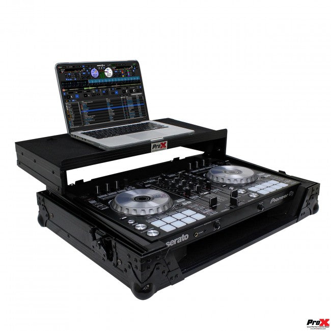 ProX XS-DDJSR2LTBL LED Pioneer DDJ-SR2 Digital Controller Flight Case w Laptop Shelf