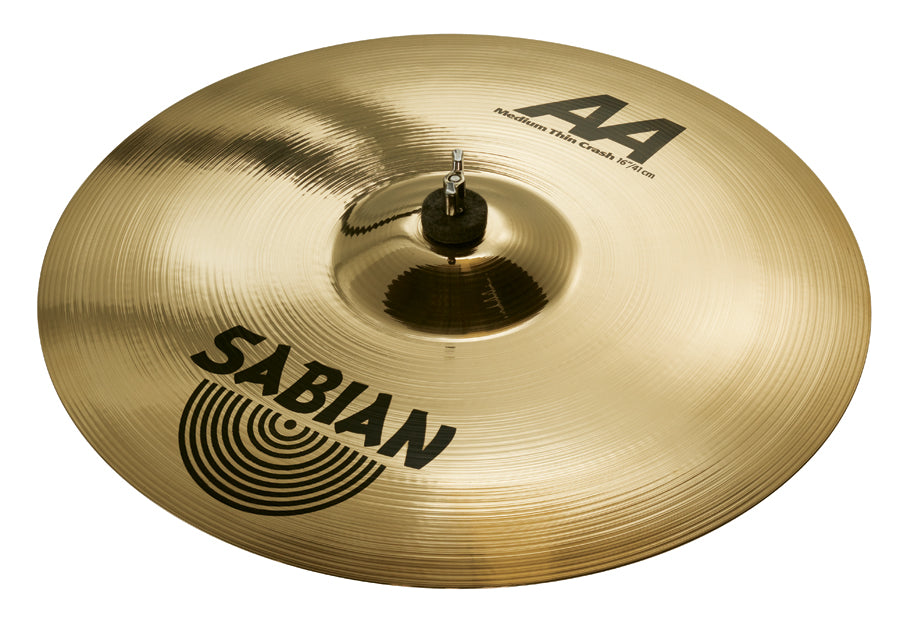 Sabian AA Medium-Thin Crash Cymbal Brilliant Finish