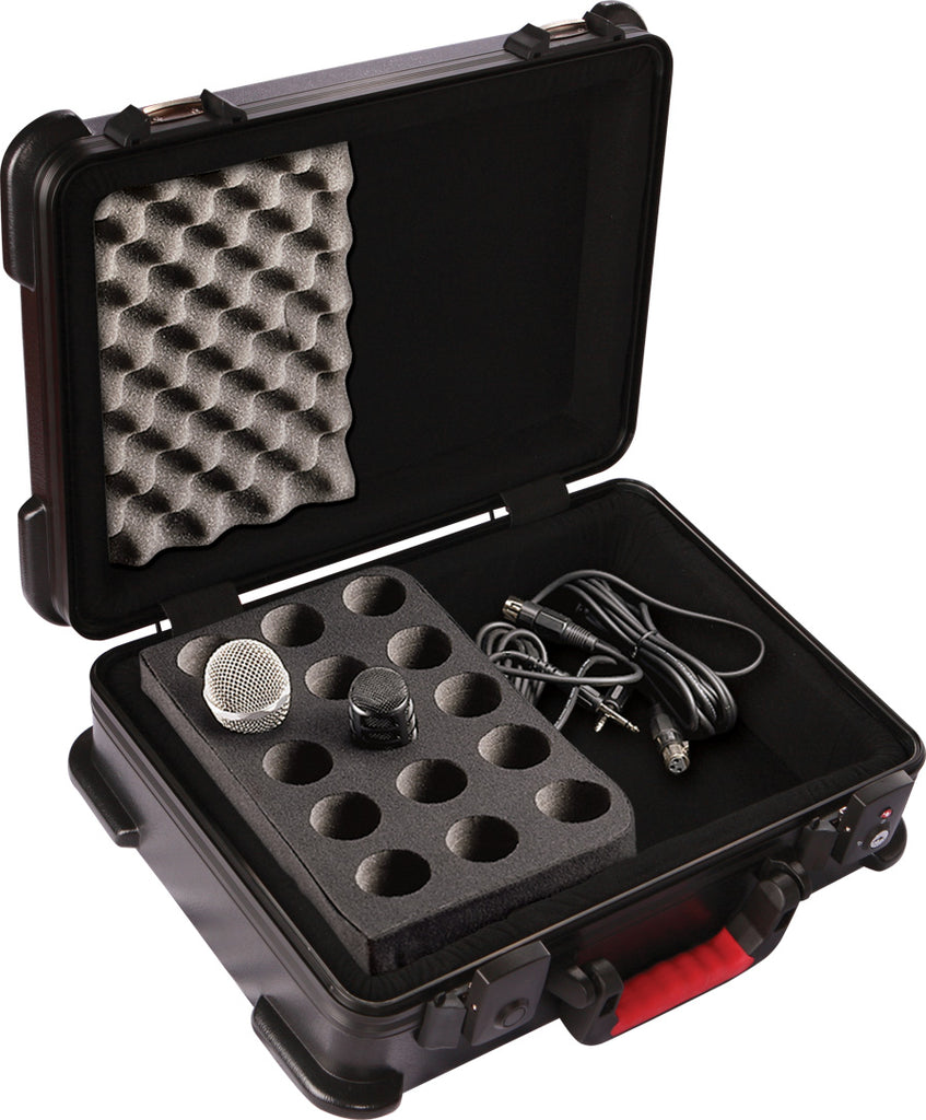 Gator GM-15-TSA ATA Molded Case With Drops For 15 Microphones