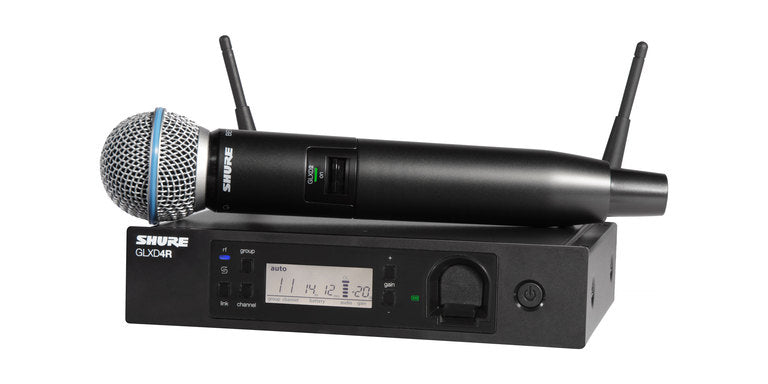 Shure GLXD24R/B58 Handheld Wireless System W/ Beta 58A Microphone