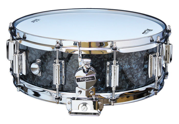 "Rogers 14"" x 5"" Dyna-Sonic Classic Snare Drum w/ Beavertail Lugs - Black Diamond Pearl"