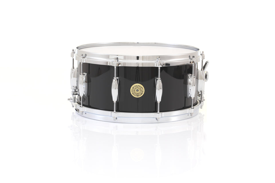 "Gretsch 14"" x 6.5"" USA CUSTOM Snare Drum - Piano Black Gloss, Micro Sensitive"