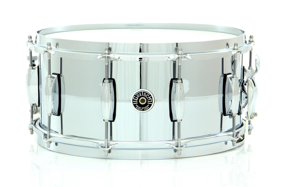"Gretsch 14"" x 6.5"" Brooklyn Chrome Over Brass Snare Drum"