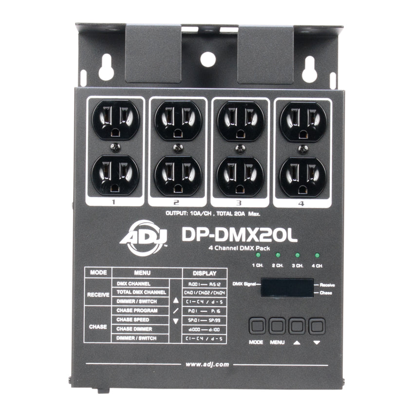 ADJ DP-DMX20L 4 Channel Portable DMX Dimmer/Switch Pack