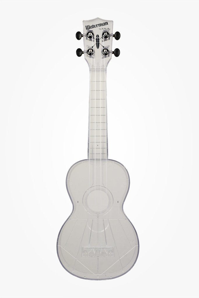 Kala Waterman Soprano Composite Translucent Ukulele - Gloss All Clear