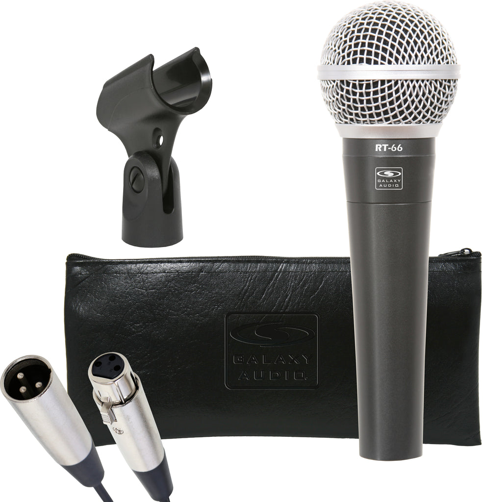 Galaxy Audio RT-66x Dynamic Microphone With 15' XLR Cable