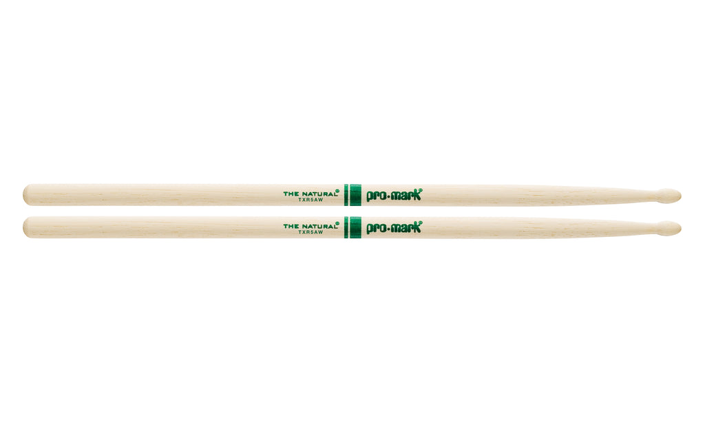 Promark TXR5AW Hickory 5A The Natural Wood Tip drumstick