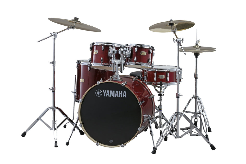 "Yamaha Stage Custom Birch 22"" Kick 5 Piece Shell Pack - Cranberry Red"