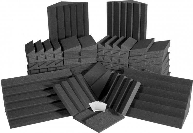 AURALEX ACOUSTICS ROOMADCHA/CHA Alpha DST Roominator Acoustic Treatment Kit - Charcoal
