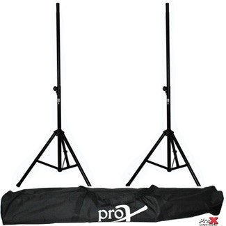 ProX T-SS26P 8' Twin Speaker Stand Set w/ Carrying Bag