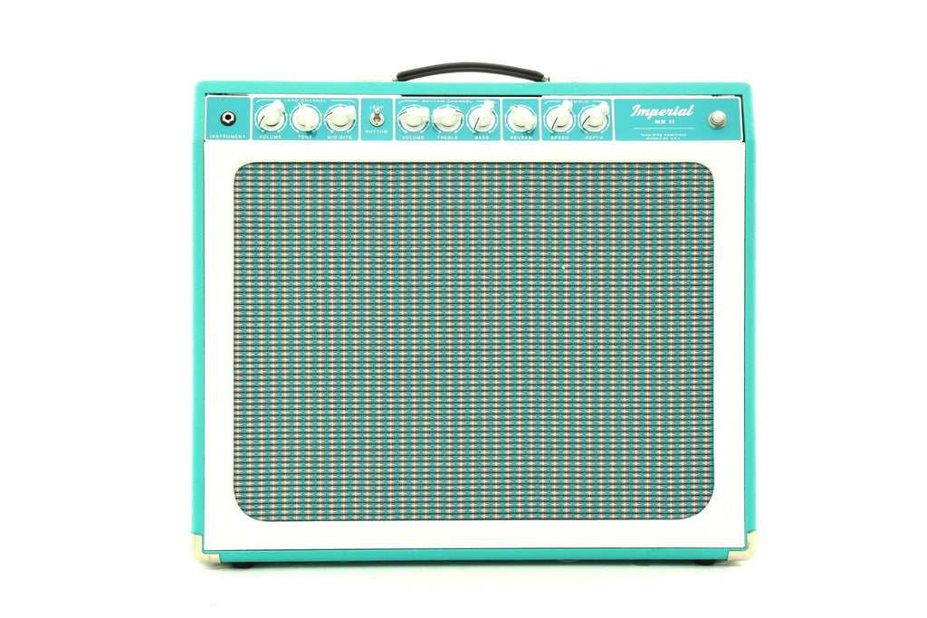 "Tone King Imperial MK II 1 x 12"" Combo Amplifier - Turquoise/White"