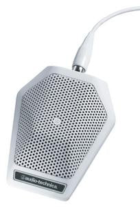 Audio-Technica U851RW UniPoint Series Cardioid Boundary Mic (Built-in Power Module, White)