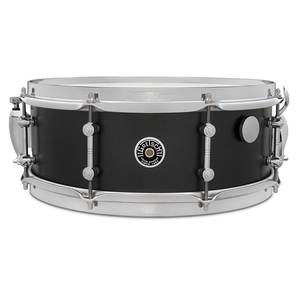 "Gretsch 14"" x 5.5"" Brooklyn Standard Snare Drum - Satin Black Metallic"