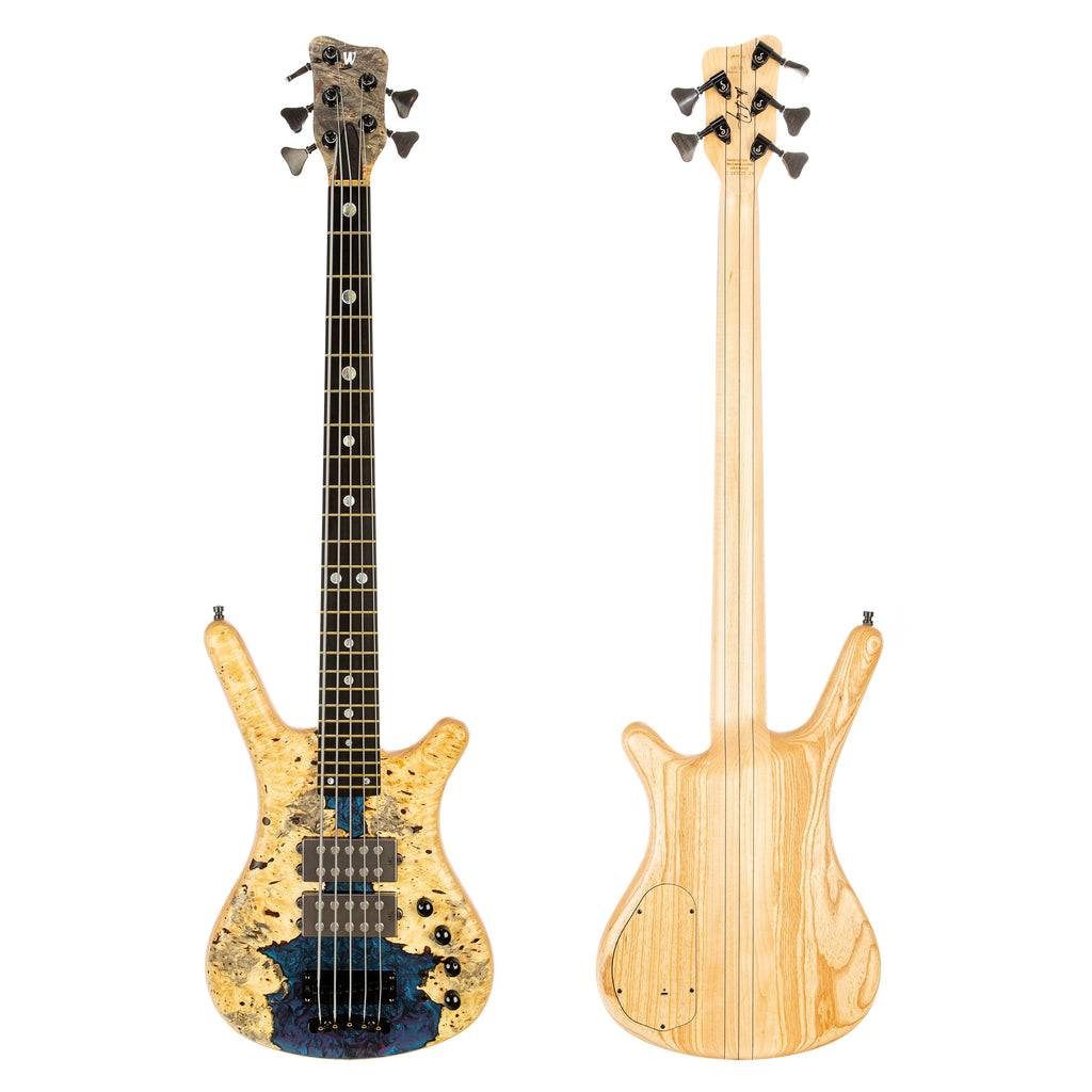 Warwick Masterbuilt Corvette $$ Double Buck NT Ltd 5-String - Natural Satin with Multicolor Chrome Acrylic (WWC16322519)