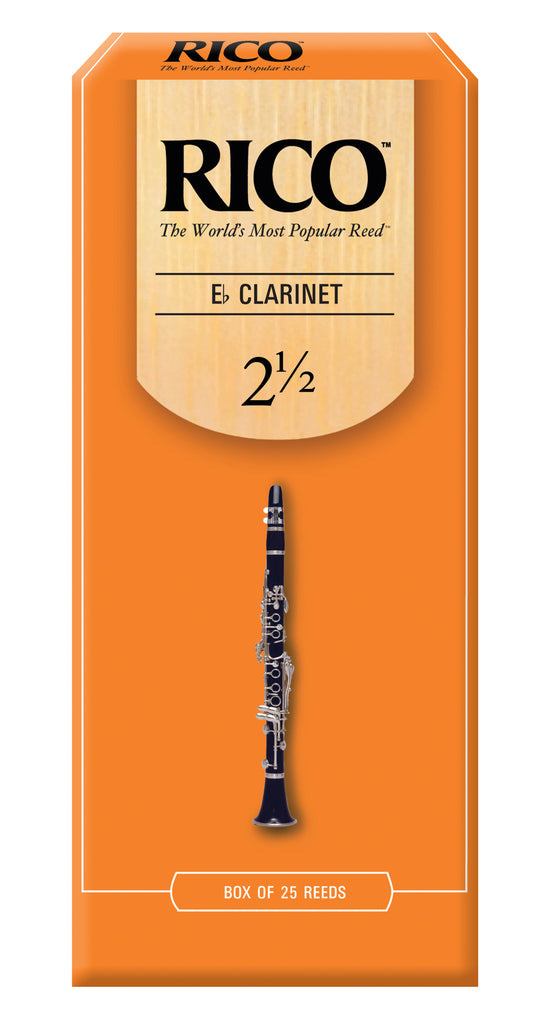 Ddaddario Woodwinds RBA2525 Rico E-Flat Clarinet Reeds, Strength 2.5, 25-pack