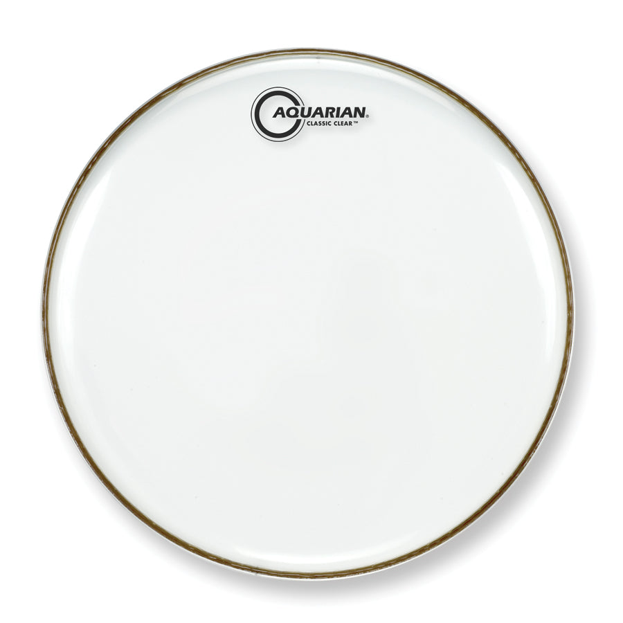 "Aquarian 13"" Classic Clear Resonant Snare Drum Head"