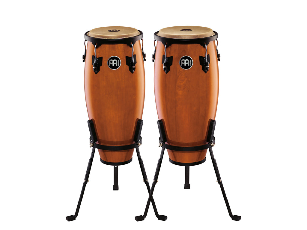 "Meinl HC555MA Headliner Wood Congas 10"" And 11"" Set With Stands - Maple"