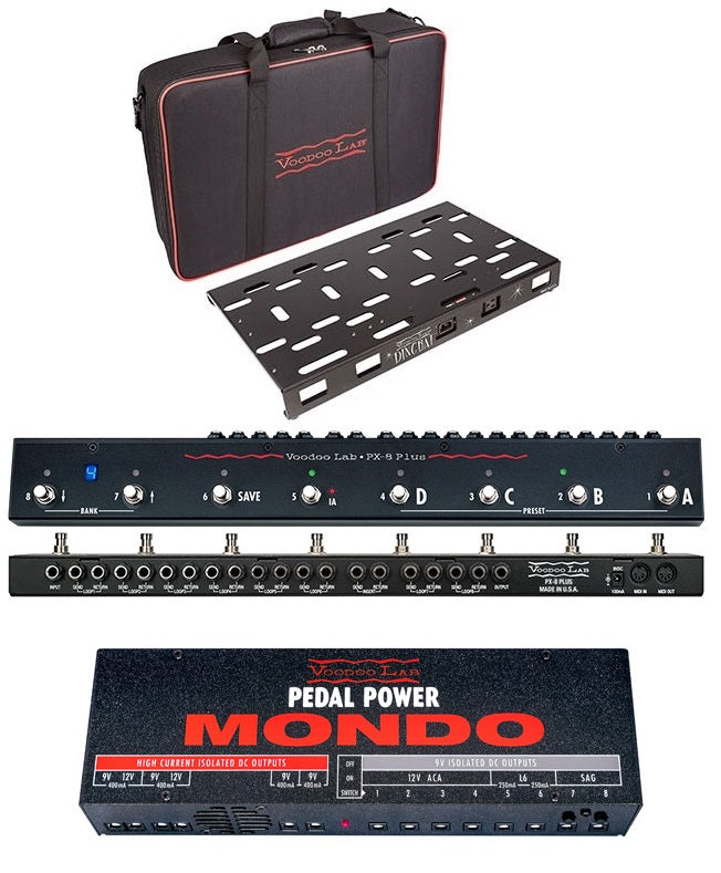 Voodoo Lab Dingbat PX Pedalboard W/ PX8 Plus & Pedal Power MONDO