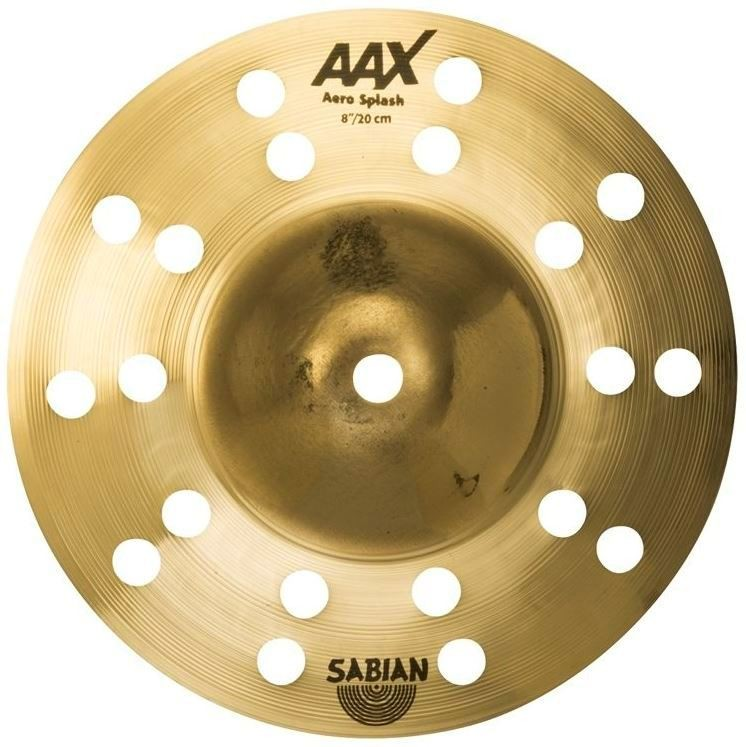 "Sabian 8"" AAX Aero Splash Cymbal - Brilliant Finish"