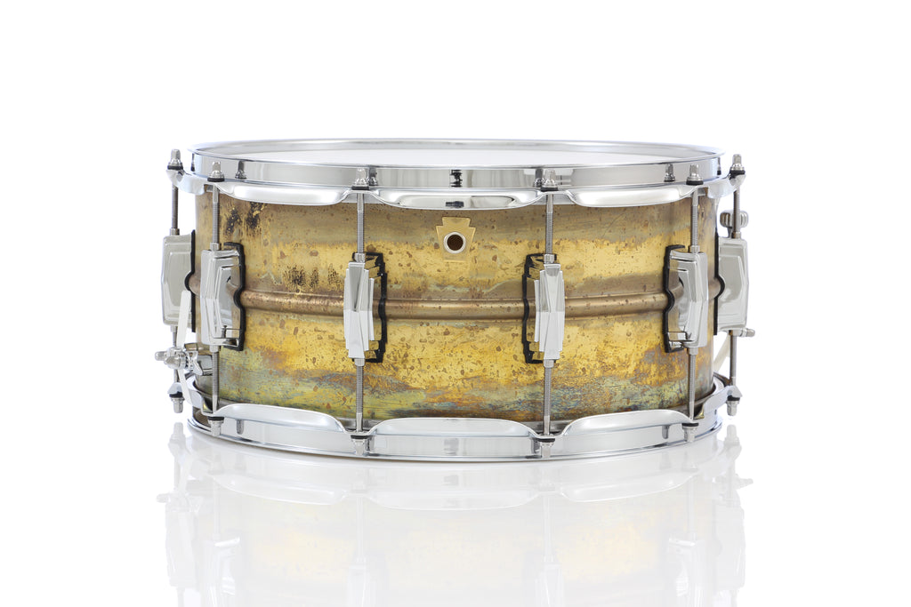 "Ludwig 14"" x 6.5"" Raw Brass Snare Drum"