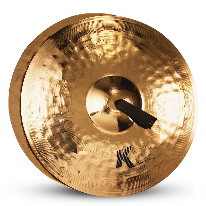 "Zildjian 20"" K SYMPHONIC Light Brilliant Cymbals, Pair"