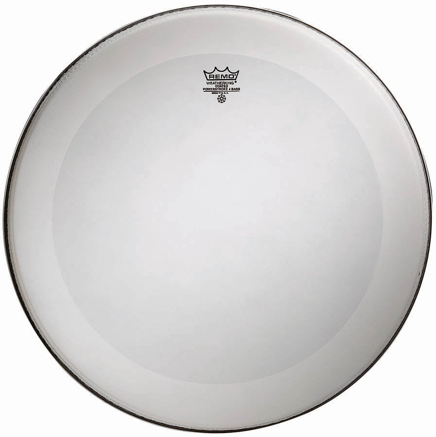 "Remo 22"" Coated Powerstroke 4 Bass Drum Head With Falam Patch"