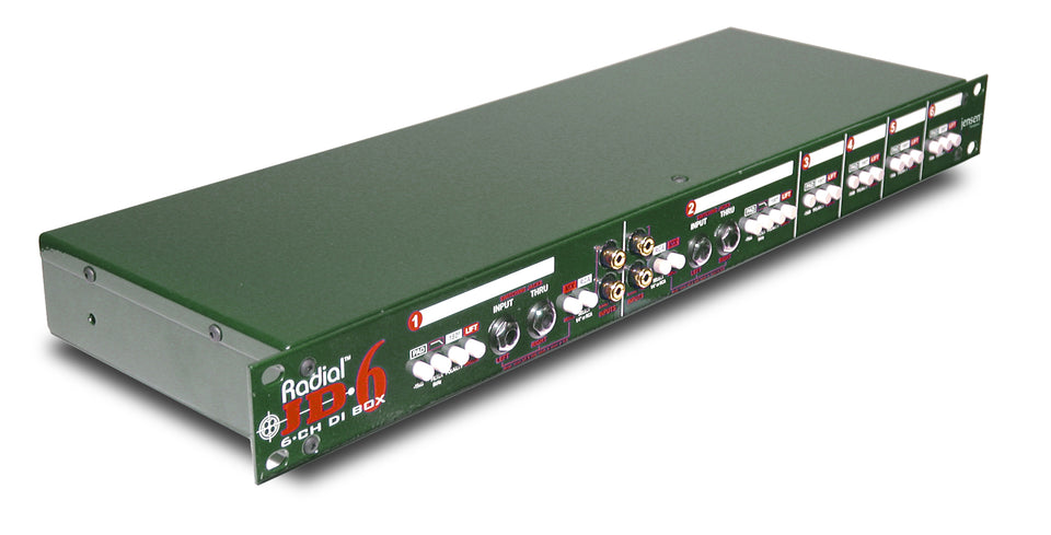 Radial Engineering JD6 Six-Channel Rackmount DI Box