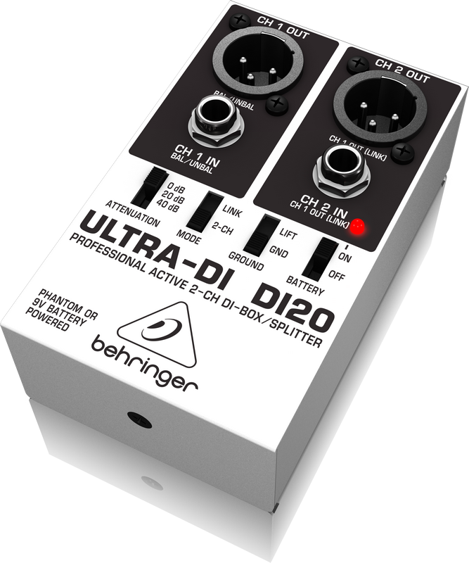 Behringer ULTRA-DI DI20 2 Channel DI Box/Splitter