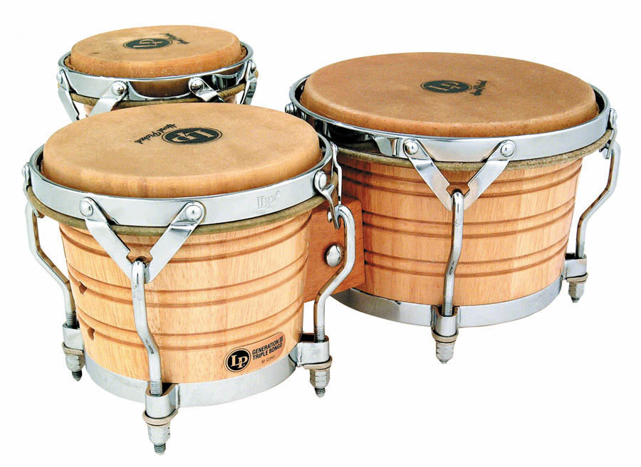 LP LP202-AW Generation III Triple Wood Bongos