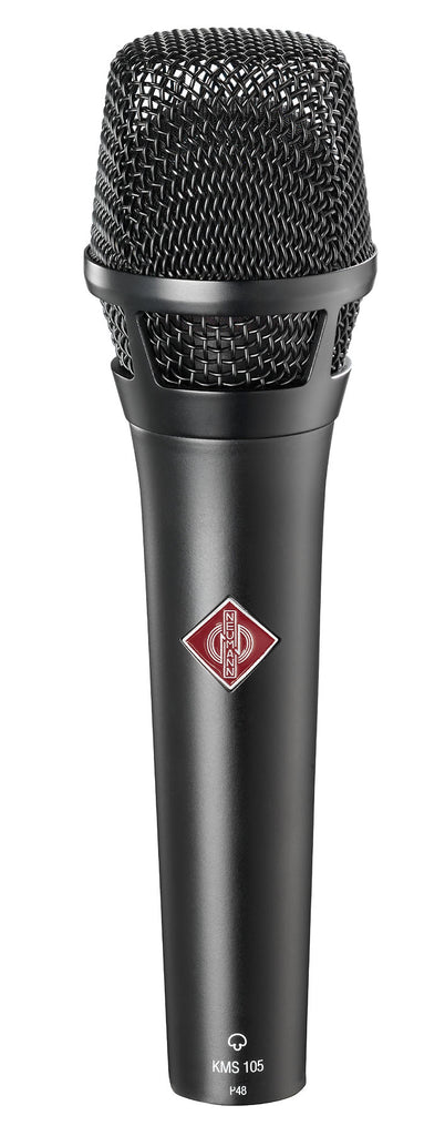 Neumann KMS 105 D Supercardioid Microphone W/ KMS Pouch and SG105 - Black