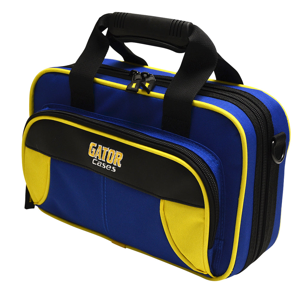 Gator GL-CLARINET-YB Spirit Series Lightweight Clarinet Case, Yellow And Blue
