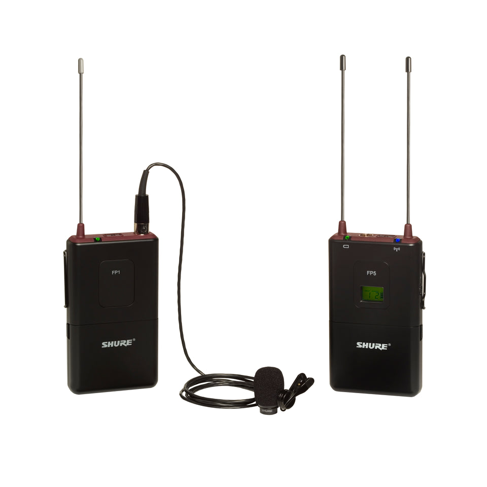 Shure FP15/83 Wireless Lavalier Camera System with Battery Powered Portable Receiver