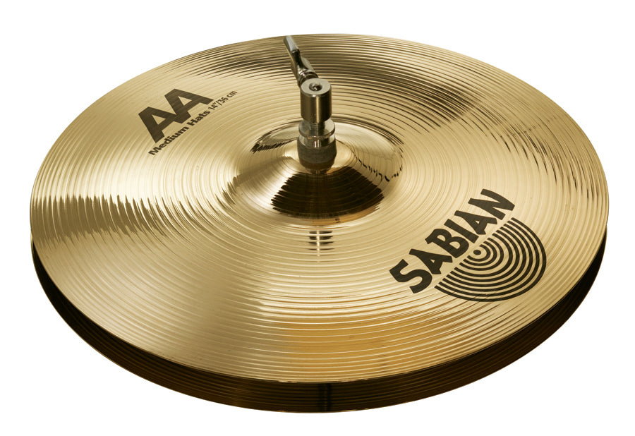 "Sabian 14"" AA Medium Hi-Hat Cymbals Brilliant Finish"